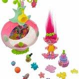 Trolls Тролли Розочка Вечеринка Сюрприз Sparkle Surprise Party Pod Playset Dreamworks