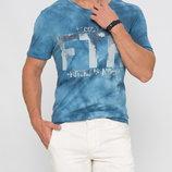 Голубая мужская футболка Lc Waikiki / Лс Вайкики с надписью FTR