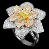 Серебряное кольцо . Размер 17
