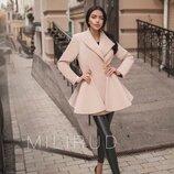 пальто ткань КАШЕМИР ПОДКЛАДКА пальто двубортное, 2 карманамив боковых швах, 4 крупных и 8