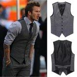 Lanvin vip бренд оригинал дизайнерский мужской жилет, шерсть шелк.