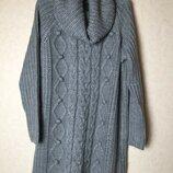 Стильное вязаное платье oversize свободного кроя от only
