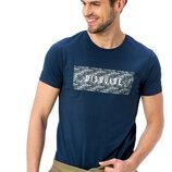 Синяя мужская футболка Lc Waikiki / Лс Вайкики с надписью Disguise