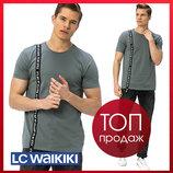 Серая мужская футболка Lc Waikiki / Лс Вайкики с черной лентой It's not my attitude, it's my style