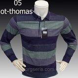 Футболка-Поло мужская OT-THOMAS полосатая , размер L,,4XL 54