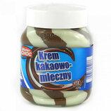 Шоколадная паста Mister Choc Duo какао-молочная 400ml