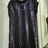 Очень красивое платье сукня черное блестящее паетки, вечернее коктельное праздничное Reserved