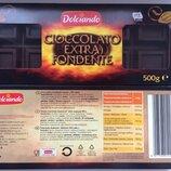 Черный шоколад Dolciando Cioccolatto Extra fondente 500г. Италия