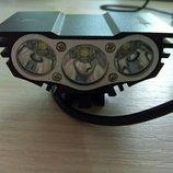 Лучшая LED фара для велосипеда - SOLAR STORM 3х Полный комплект