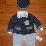 Нарядный стильный костюм на мальчика, 0-3 мес., 62, 68