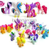 Набор фигурок Май Литл Пони цена за 12 шт My Little Pony 4-5 См игрушки Набор фигурок Май Литл Пони