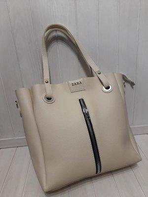 5d08a3c5335f Женская сумка Zara беж на 3 отделения: 450 грн - деловые сумки zara ...
