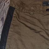 джинсы хакки с лампасами Турция