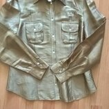 Трендовая рубашка Verse 40р. беж-золото