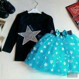 Праздничный костюм для девочки Костюм с фатиновой юбкой Нарядный костюм на праздник