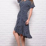 Платье в горох с коротким рукавом Бланка