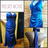 Благородное атласное платье в пол Kelsey Rose, оригинал, р. L