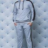 Мужской прогулочный костюм в сером цвете 44-58
