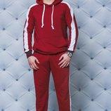 Мужской прогулочный костюм в бордовом цвете 44-58