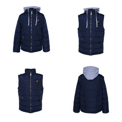Демисезонная куртка-трансформер для мальчика Стайер, р.140-158