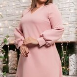 Нарядное платье с вырезаным узором ткань костюмка размеры хл весенние цвета скл.1 арт.51163