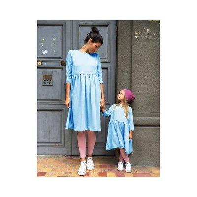 Одинаковые платья с завышенной талией комплект фемели лук мама дочка