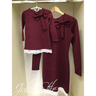 Комплект нарядных платьев на фотосессию на праздники мама дочка фемели лук