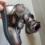 Ботинки Томм 5099A бант серебро 22-26