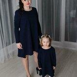 Комплект платьев свободного кроя мама дочка фемели лук