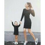 Комплект платьев фемели лук мама дочка одинаковые платья футляры