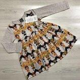 Платье с длинным рукавом для девочки на весну Куколки LOL бежевое 92-98 см