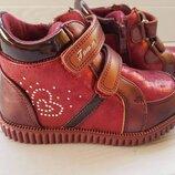 Ботинки Томм 5102B сердечки бордо 22 и 23рр