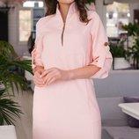 Стильное нарядное платье креп-костюмная ткань трапецевидного приталенного кроя скл.1 арт.51217