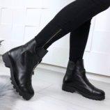 Ботинки зима нат. кожа ,замша