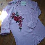 Модная рубашка с нашивкой котон