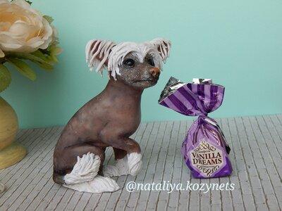 Статуэтка питомца.3д портрет собаки.Скульптура вашего питомца из полимерной глины..Статуэтка собаки