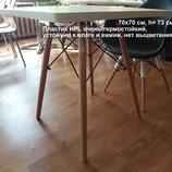 квадратный белый стол Квадро столешница из экопластика