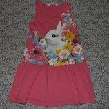 платье хб с кролем 4-6 лет большой выбор одежды