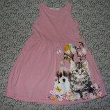 платье хлопок 4-6 лет большой выбор одежды