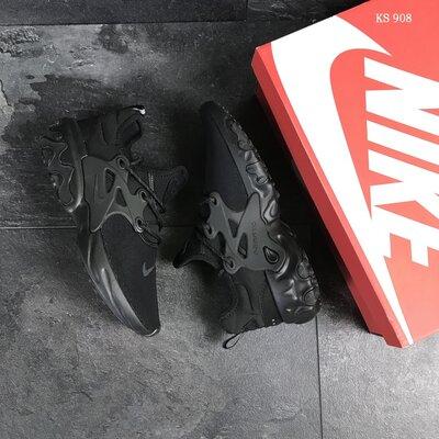 Скидка. Как оригинал. Бесплатная доставка. Кроссовки Nike Epic React Presto 19SS черные KS 908