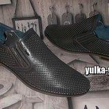 Кожаные туфли перфорированные