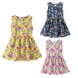 Детское хлопковое летнее платье, 4-7 года, 2 цвета, новые