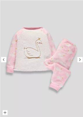 Пушистая пижамка для девочек от Matalan, на 4-5 лет