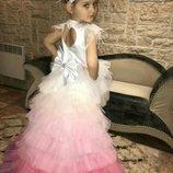 Платье нарядное детское выпускное радуга