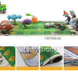 Поле коврик для сражений большой 60x30 см Растения против зомби   Plants vs Zombies