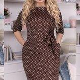 Милое платье ткань французский трикотаж большие размеры скл.1 арт.51302
