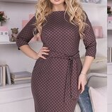 Милое платье ткань французский трикотаж большие размеры скл.1 арт.51301