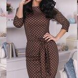 Шикарное повседневное платье ткань французский трикотаж скл.1 арт.51300