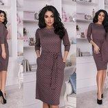 Шикарное повседневное платье ткань французский трикотаж скл.1 арт.51299