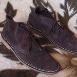 Topman 43-44 р./ 29 см. брендовые мужские замшевые ботинки